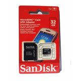 Cartao-Memoria-Micro-Sd-Scandisk-32gb-Com-Adaptador-Lacrado