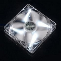 Cooler Fan 80mm Akasa Ak-fn054 Leds Branco - Silencioso