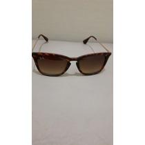 Óculos Rb 4187 Chris- Import- Preto E Marrom