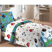 Jogo De Cama Lençol Solteiro Angry Birds