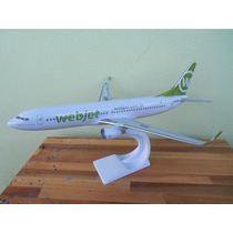 Avião Boeing 737-800w Webjet 28cm Miniatura Maquete