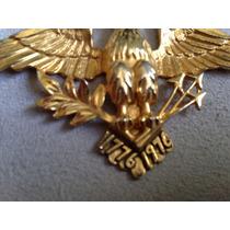 Aguia Rara E Grande De Metal Insignia Us Army Original