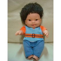 Boneco Bebe Mosca Cotiplas Chiquititas Baby Moreno Negro