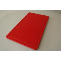 Tábua De Corte De Polietileno Vermelha 10 Mm X 300x 500 Mm
