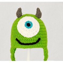 Touca Croche Mike Monstros Sa Inc Prop - Art Crochê