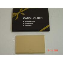 = Porta Cartão = Café Creme Promocional Dourado Antigo Raro