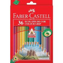 Ecolápis De Cor Colour Grip C/ 36 Cores - Faber Castell