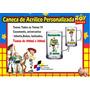 100 Canecas Acrílico Personalizada Toy Story 300ml