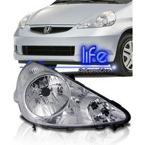 Farol Honda Fit 2003 04 05 06 07 2008 Cromado Mod. Original