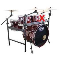 Bateria Rmv Vermelha Zebrano Road Up Tons Bumbo 22 Com Rack