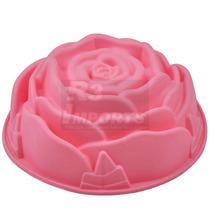 Forma De Rosa Em Silicone Bolo Pudim Torta - Pronta Entrega