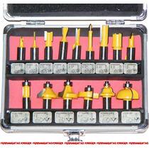 Fresa P/ Tupia Manual 15 Pç - 12mm C/ Estojo **super Preço**