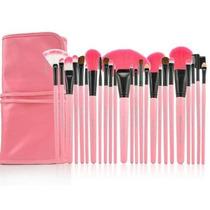 Kit Com 24 Pinceis Para Maquiagem - R O S A