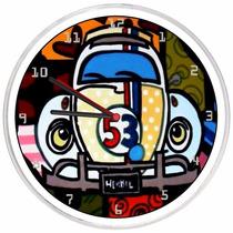 Relógio De Parede Decorativo Fusca Herbie 53 Vintage Barato