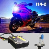 Kit Xenon Moto H4-2 Xenon E Halógena Nas Mesma Lâmpada Em Bh