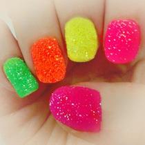 Glitter Fluor Para Unhas E Maquiagens Artísticas 5 Cores