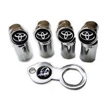 Bico De Pneu C/ Antifurto Logomarca Toyota + Frete Gratis