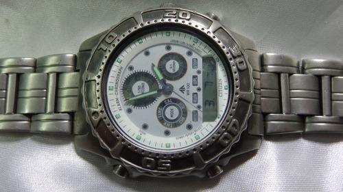08a611e4051 Ultra Raro Citizen Combo C 410 Titanium Garant Relogiodovovo - R ...