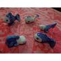 Peixe Miniatura Em Porcelana Lote De 5 Peças