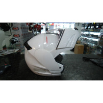 Capacete Rovcan Rvc-210 Articulado C/ Viseira Interna Branco