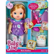 Baby Alive Bons Sonhos Loira - Faz Xixi E Escova O Dentinho