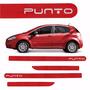 Friso Lateral Fiat Punto 2013 A 2015 Vermelho Alpine *