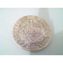 Moeda Antiga De Prata 2000 Réis 1929 - Mocinha - Di*