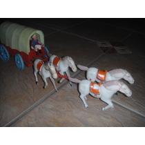 Carroça Com Seis Cavalos E Cocheiro Marca Trol