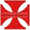 Patch Bordado Trj004 Cruz De Malta Pátea Vasco Termocolante