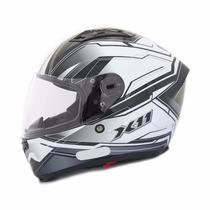 Capacete Moto X11 Impulse Com Viseira Solar Cinza Tam 58