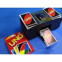 Novo Embaralhador Eletronico Cartas Com 02 Jogo Uno