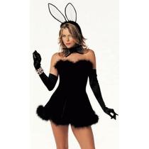 Fantasia Coelha Black Importada Tam. P P ( 34 A 36)