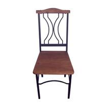 Ca266 - Cadeiras Em Ferro E Madeira De Demolição - Arte Mg