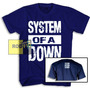 System Of A Down Camiseta System Of A Down Com Logo Costas