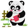 B398 Coleção Bordados Computadorizados Ursos Panda