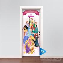 Adesivo 123 Porta Princesas Disney Ariel Sofia Bela Mod 761
