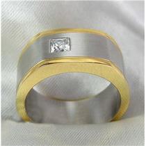 Lindo Anel Masculino Em Ouro 18k E Diamante Sedex Grátis