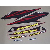 Kit Adesivos Honda Nxr150 Ks Bros 2007 Vermelha - Decalx