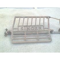 Antigo Pedal + Roda Para Máquina De Costura Singer