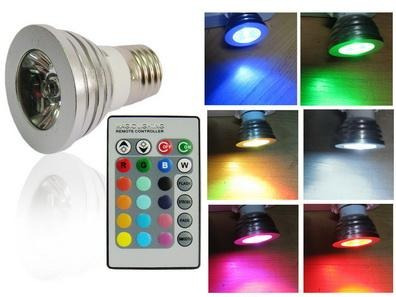 L?mpada Led 3w Colorida Rgb Controle Remoto - Decora??o ...