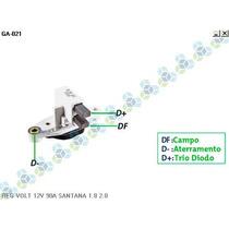 Regulador De Voltagem Vw Santana 14v 90a - Gauss