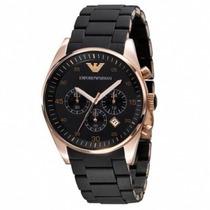 Relógio Empório Armani Ar5905 Preto E Rose Gold