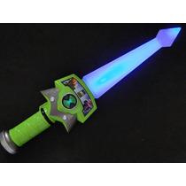 01 Espada Ben10 Luz Piscante Sons De Batalha 37 Cm Crianças