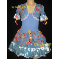 Vestido Junino Infantil Fantasia Festa Junina Caipira Bolero