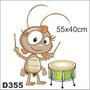 Adesivo Decorativo D355-baratinha Galinha Pintadinha Bateria