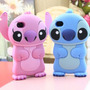 Case Stitch 3d Para Iphone 4 Nas Cores Azul E Rosa