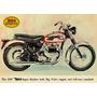 12851- Placa Decorativa Moto Motorcycle Bsa Motocicleta