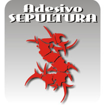 Adesivo Sepultura Personalizado