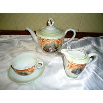 Elegante Set Vintage Bule,xícara Chá E Leiteira Kahla,déc60