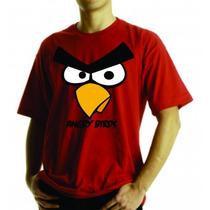 Camiseta Ou Baby Look Angry Birds Adulto E Infantil